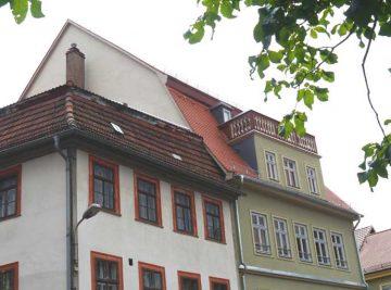 antignum - Zimmer-und Dachdeckermeisterbetrieb Erfurt - Altbausanierung abgeschlossen, Haus zum Christoph Frontseite