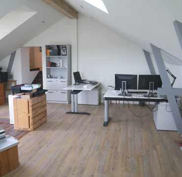 Büroräume in unserem Firmengebäude, antignum Zimmer- und Dachdeckermeisterbetrieb Erfurt
