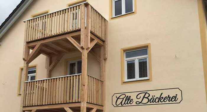 Balkonanlage aus Holz