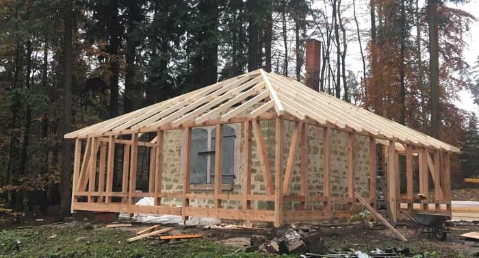 Waldhaus - Sanierung, Bauphase