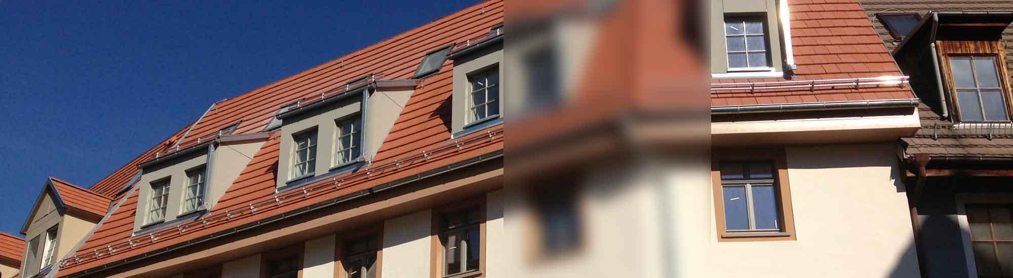 antignum - Zimmer-und Dachdeckermeisterbetrieb Erfurt - Detailfoto Dachsanierung Arche in Erfurt