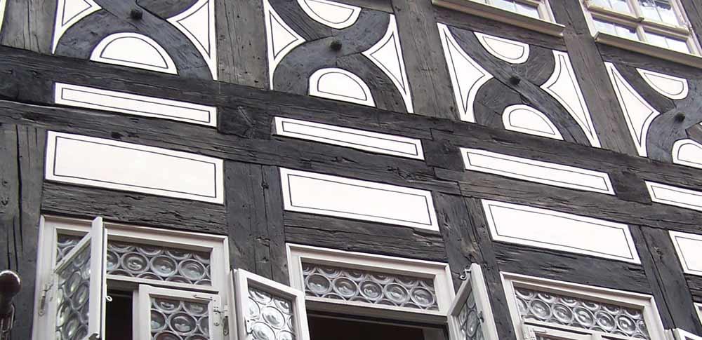 Blogbeitrag Fachwerk, Detail Fachwerkhaus Krämerbrücke in Erfurt