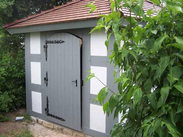 stilvolles Fachwerkgartenhaus