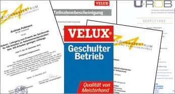 antignum - Zimmer-und Dachdeckermeisterbetrieb Erfurt - Zertifikate antignum