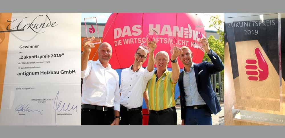 Unternehmensgruppe antignum, Preisverleihung Zukunftspreis 2019 Thüringen