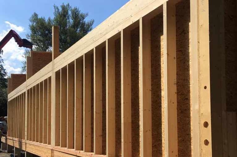Holzrahmenbau Wanddetail