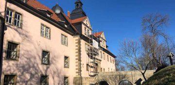 Altbausanirung und Denkmalschutz, Dach, Bauprojekt Schloss Tenneberg, Dachreparatur